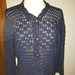 3/$25 Coldwater Creek knit cardigan sweater